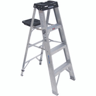 Werner 374 4 Ft Heavy Duty Industrial Aluminum Stepladder