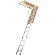 Werner AH2210 Aluminum Attic Ladder 7 Foot 8 Inch To 10 Foot 3 Inch 375 Pounds