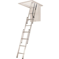 Werner AA1510B Aluminum Attic Ladder 7 Foot To 9 Foot 10 Inch Height 250 Pound