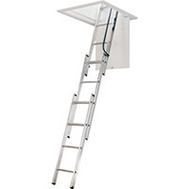 Werner AA1510CA Aluminum Attic Ladder 7 Foot To 9 Foot 10 Inch 250 Pound