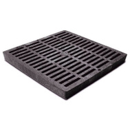 NDS 1211 12 Inch By 12 Inch Black Square Grate