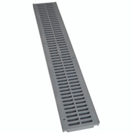 NDS 241-1-AST 2 Foot By 4-1/8 Inch Spee-D Channel Drain Grate Gray