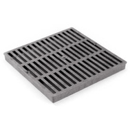 Draintech 980/0902SDB Grate Square Black 9In