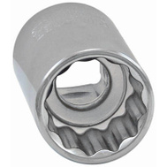 Apex Tool Group 36111 Master Mechanic 1/2 Inch 24Mm 12 Point Metric Shallow Socket