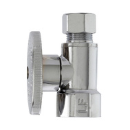 Brass Craft MP2058PCLF Master Plumber 1/2 By 3/8 Chrome Straight Valve