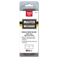 Stanley Tools 521013 Master Mechanic Single Edge Razor Blade High Carbon Surgical Steel 009 Gauge 100 Pack