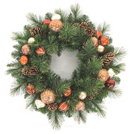 Equinox 2 CPC-406-26 Holiday Wonderland HW 26 Inch Cappu Art Wreath