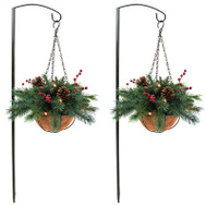 Equinox 2 LABD-HBW2-7CW Holiday Wonderland HW 2PK 13 Inch Hang Basket