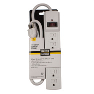 Master Electrician YC-102F-1 Surge Protector 3 Foot 6 Outlet White