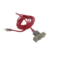 Alert Stamping CTL-25M Master Electrician 25 Foot 14/3 Red Extension Cord With Protector Breaker