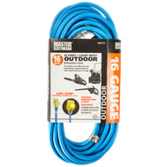 HWG Kintron 02367-06ME Master Electrician 25 Foot 16/3 All Weather Blue Extension Cord With Glow End