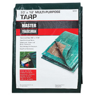 Kaps Tex KT-MT1012GB 10 By 12 Foot Hunter Green And Brown Polyethylene Storage Tarp Cover