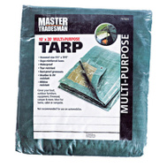 Kaps Tex KT-MT1020GB 10 By 20 Foot Hunter Green And Brown Polyethylene Storage Tarp Cover