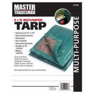 Kaps Tex KT-MT0810GB 8 By 10 Foot Green Brown Tarp Cover