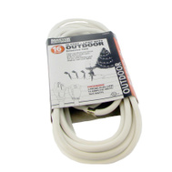 PHW Genting KAB 20 WHITE Master Electrician 20 Foot 16/3 White Extension Cord