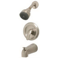 Homewerks Worldwide Llc-Import 623316CA HomePointe Single Metal Lever Handle Pressure Balancing Tub & Shower Faucet Brushed Nickel