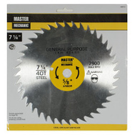 Master Mechanic 494914 7-1/4 Inch 40 Tooth Combination Blade