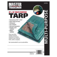 Kaps Tex KT-MT3050GB 30 By 50 Foot Hunter Green And Brown Polyethylene Storage Tarp Cover