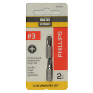 Master Mechanic 442459 2 Pack #3 Phillips Insert Bit