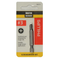 Master Mechanic 504779 #3 Phillips Screwdriver Bit