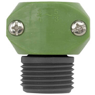 Fiskars 31MGT Green Thumb Poly Male Hose Coupler 5/8 Inch And 3/4 Inch