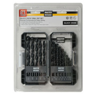 Master Mechanic 441496 21 Piece Black Oxide Drill Set 1/16 To 3/8 Inch