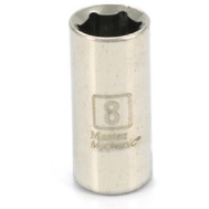 Apex Tool Group 199304 Master Mechanic 1/4 Inch Drive 8Mm 6 Point Socket