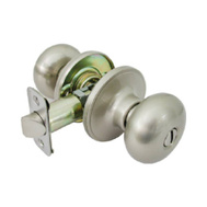 Tru Guard TFX210 Mushroom Bed And Bath Privacy Knobset Satin Nickel