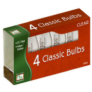 Noma Inliten 1094C-88 Holiday Wonderland 4 Pack C9 Clear Replacement Bulb