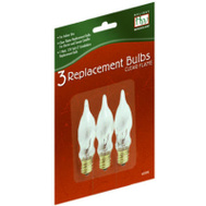 Noma Inliten 1079-88 Holiday Wonderland 3 Pack C7 Frosted Flame Bulb 1 Watt