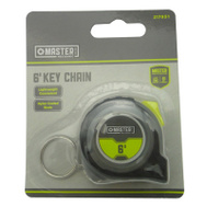 Apex Tool Group 217931 Master Mechanic Key Chain Tape Measure 6 Foot ABS Co-Molded TRP