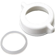 Brass Craft 823-682 Master Plumber 1-1/4 Inch White Plastic Nut And Washer