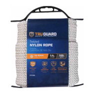 Mibro Group (The) 642251 1/4X100 WHT Nyl Rope