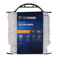 Richelieu America 642261 Tru Guard 3/8 Inch By 50 Feet White Nylon Rope 280 Pound Rated