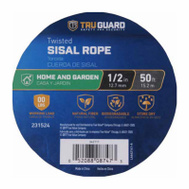 Richelieu America 642141 Tru Guard 1/2 Inch By 50 Feet Natural Sisal Rope 110 Pound Rated