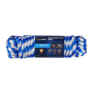 Richelieu America 643761 3/8 Inch By 50 Feet Blue Derby Polypropylene Rope 140 Pound Rated