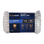 Richelieu America 642311 Tru Guard 3/8 Inch By 15 Feet White Dock Line 570 Pound Rated
