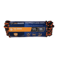 Richelieu America 643731 1/2 Inch By 50 Feet Black & Orange Twisted Polypropylene Truck Rope 420 Pound Rated