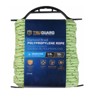 Richelieu America 643541 3/8 Inch By 50 Feet Reflective Lime Polypropylene Rope 130 Pound Rated