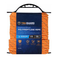 Richelieu America 643531 3/8 Inch By 50 Feet Orange High Visibility Polypropylene Rope 130 Pound Rated