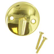 Brass Craft 341-222 Master Plumber Polished Brass Overflow Face Plate