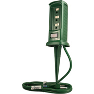 Master Electrician SP-049 3 Outlet Green Power Yard Stake