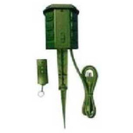 Master Electrician SP-039 Green 6 Outlet Power Stake With Remote