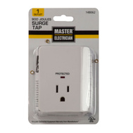 Master Electrician CT-042 White 1 Outlet Surge Tap
