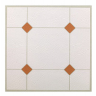 Max KD0307 White & Taupe Peel & Stick Vinyl Floor Tile Pack Of 30