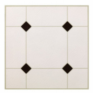 Max KD0309 30 Piece Black/White Floor Tile