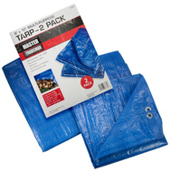Master Tradesman 2PK8X10BLUE 8 Foot By 10 Foot Blue Tarp Pack Of 2