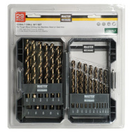 Master Mechanic 159084 29 Piece Cobalt Drill Bit Set 1/16 To 1/2 Inch
