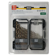 Master Mechanic 160356 17 Piece Cobalt Drill Bit Set 1/16 To 3/8 Inch