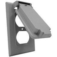 Hubbell 1C-DV Master Electrician Gray Vertical Duplex Snapcover